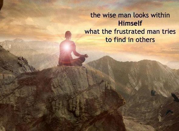 El sabio mira en si mismo, lo que el frustrado busca en otros.